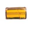 Glass Lamp Bead Rectangle 18x10x6mm Topaz/Bronze